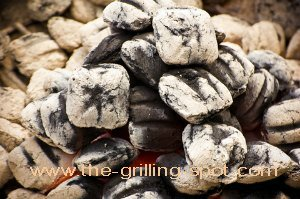 Charcoal Briquettes Ready to Cook
