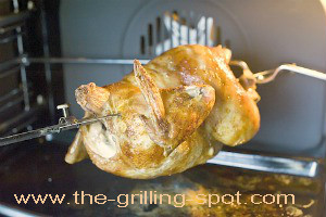 Chicken in a Rotisserie Oven
