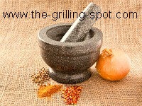 Mortar, Pestle & Spices