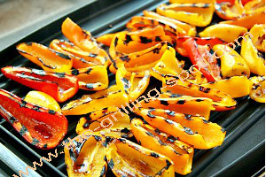 Peppers in a Griddle Pan