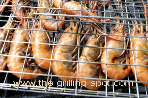 Shrimp in Grilling Basket