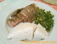 Ugali and nyama-choma